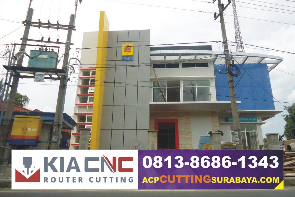 jasa cutting acp surabaya, kontraktor acp seven surabaya, fasad gedung surabaya