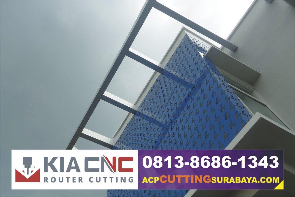 jasa cutting acp surabaya, kontraktor acp surabaya, fasad gedung surabaya